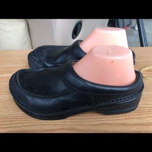 Birkenstock Black Leather Clogs Slip On Shoes